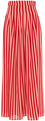 Emilia Wickstead Carla Striped Textured-georgette Wide-leg Pants