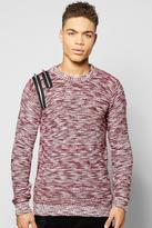 Boohoo Mixed Yarn Jumper With Double Zip Detail