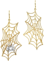 Forzieri Bernard Delettrez Spiderweb Bronze and Silver Earrings