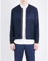 The Kooples Denim-style Linen And Cotton-blend Jacket
