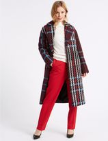 Marks and Spencer PETITE Checked Coat