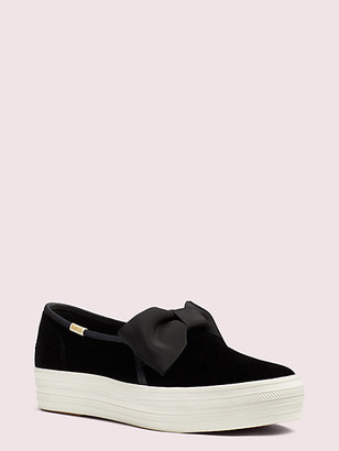 Kate Spade Keds X Triple Decker Velvet Bow Sneakers