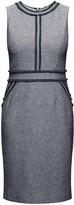 Rumour London Eloise Navy Cotton Tweed Dress with Fringed Detail