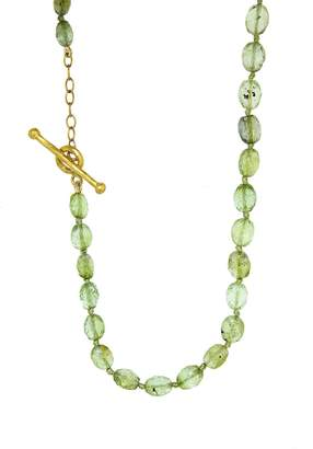 Cathy Waterman 87 Carat Green Tourmaline Bead Necklace - Yellow Gold