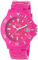 Freelook Women's HA1431-5 Sea Diver Neon Pink Band Pink Face Watch