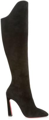 Christian Louboutin Eleonor Botta 100 Suede Heel Boots