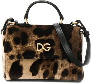Dolce & Gabbana Kids Leopard Print Shoulder Bag