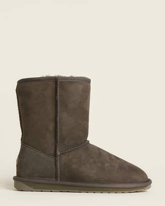 Emu Dark Olive Stinger Lo Shearling-Lined Suede Boots
