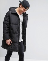 Asos Puffer Jacket In Oversized Fit With Hood