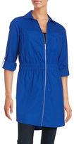 MICHAEL Michael Kors Plus Zip-Front Shirt Dress