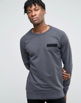 Jack and Jones Sweatshirt with Raglan Sleeve and Military Detail