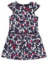 Petit Bateau Navy Floral Jersey Dress
