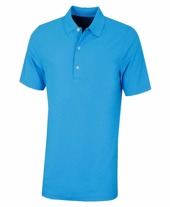 Thumbnail for your product : Greg Norman Mens KX04 Performance Plain Golf Polo Shirt - Blue Stream - M