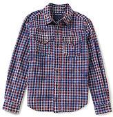 True Religion Big Boys 8-20 Plaid Twill Button-Front Western Shirt