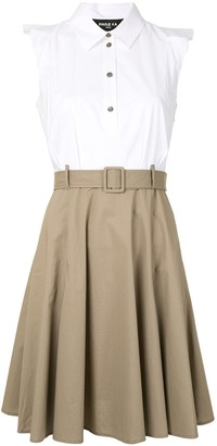 Paule Ka High-Waisted Belted Skirt