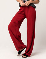 SKY AND SPARROW Solid Womens Wide Leg Pants
