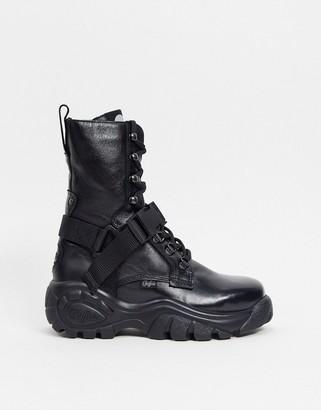 Buffalo David Bitton London Lidia utility chunky heeled ankle boots in black