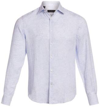 Saks Fifth Avenue Specked Linen Shirt