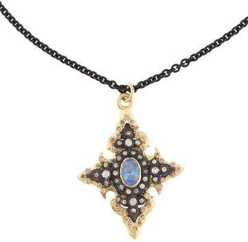 Armenta Diamond & Opal Old World Pendant Necklace