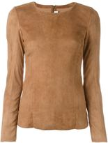 Drome suede zipped top