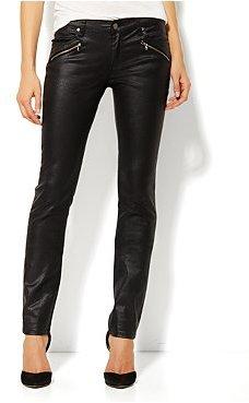 New York & Co. Zip Pocket Coated Denim Skinny Jean