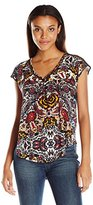 Lucky Brand Women's Lace Trim Top