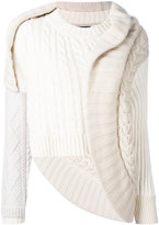 Burberry deconstructed cable-knit sweater - women - Cashmere/Cotton/Polyamide - M