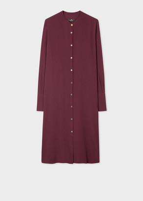 Paul Smith Women's Damson Silk-Blend Shirt Dress