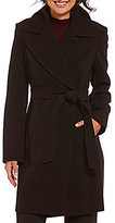 Preston & York Preston and York Crepe Snap-Front Belted Coat