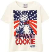 Sesame Street Logoshirt Boys' Short Sleevet-Shirt - White - Blanc (Almost White) - (Brand Size: 7-9 Ans)