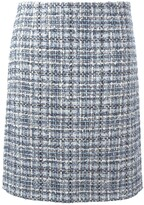 Lanvin tweed checked skirt