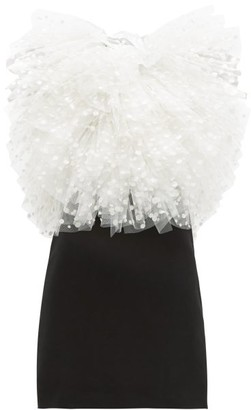 Givenchy Polka-dot Tulle And Velvet Mini Dress - White Black