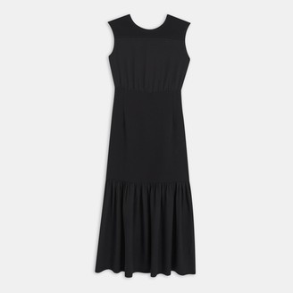 Theory Blouson Maxi Dress in Silk