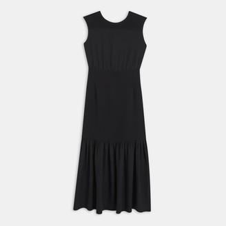 Theory Silk Blouson Maxi Dress