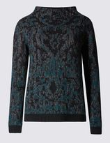 Marks and Spencer Jacquard Turtle Neck Jumper