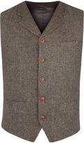 Gibson Green Herringbone Vest