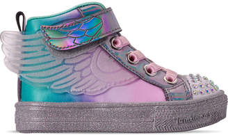 Skechers Girls' Toddler Twinkle Toes: Shuffle Lite - Lil Sparkle Wings Light-Up Casual Shoes