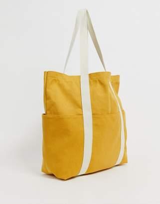 Asos Design DESIGN canvas shopper-Yellow