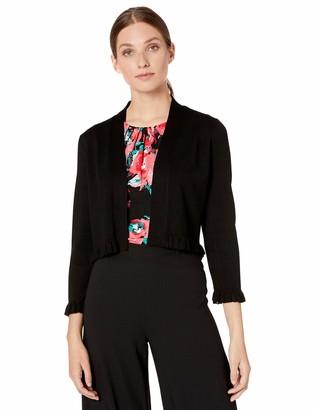 Calvin Klein Women's Long Sleeve Shrug with Ruffle Trim