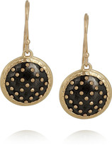 Philip Crangi X Pattern 14-karat gold and blackened steel earrings
