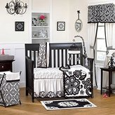 CoCalo Elsa Crib Set, Black/White, 4 Piece (Discontinued by Manufacturer) by