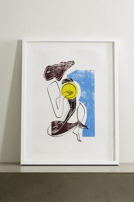 """Roksanda Cerulean Swimmer Framed Print, 23"""" X 33"""" - Blue"""
