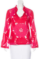 Tory Burch Sequined Floral Print Top