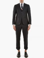 Thom Browne Charcoal Wool Single-Breasted Suit