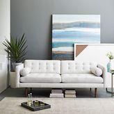"west elm Monroe Mid-Century Leather Sofa (80"")"