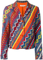 Tory Burch embroidered blazer - women - Cotton/Acrylic/Polyester/Other fibres - 6