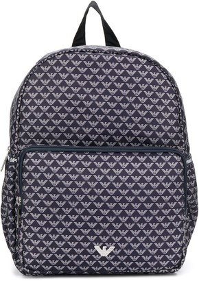 Emporio Armani Kids All-Over Logo Backpack