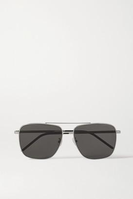 Saint Laurent Aviator-style Silver-tone Sunglasses