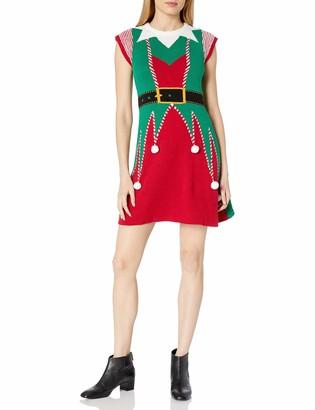 Ugly Christmas Sweater Junior's Elf Sweater Dress