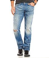 GUESS Slim Straight-Leg Distressed Denim Jeans